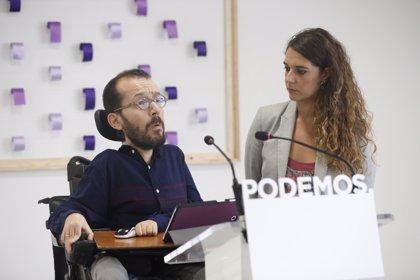 Podemos sigue preocupado por los planes de Teresa Rodríguez, pero celebra que rectifique sobre primarias