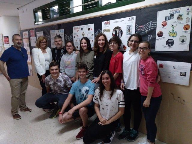 Exposición de flamenco en colegio de Sanlúcar
