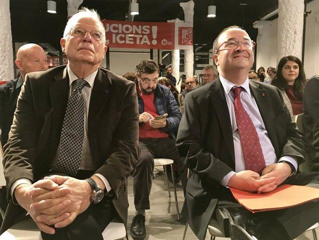 Josep Borrell, Miquel Iceta, PSC