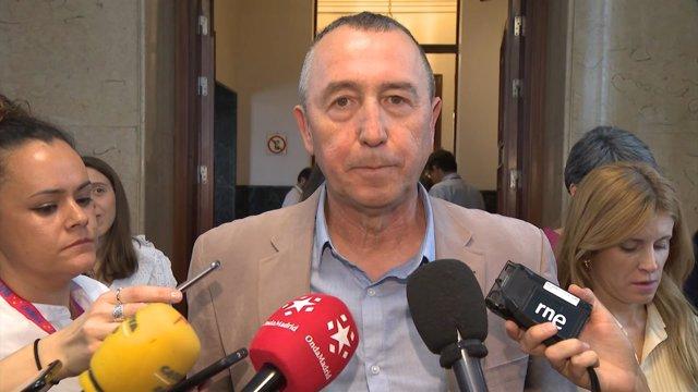 El portavoz de Compromís, Joan Baldoví, en el Congreso de los Diputados
