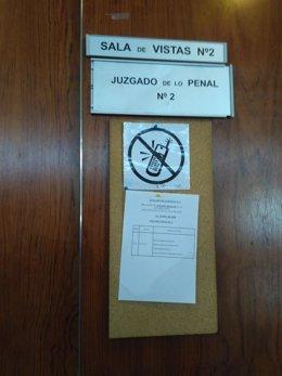 Sala de vistas donde se ha iniciado el juicio.
