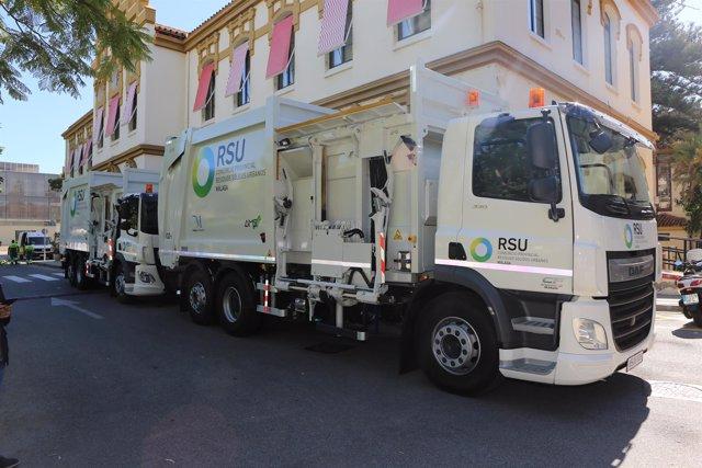 Camión de la basura en Málaga.