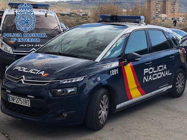 Coches patrulla de Policía Nacional
