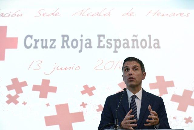 Javier Rodríguez Palacios en la nueva sede de la Cruz Roja