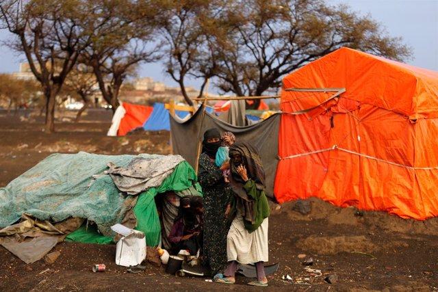 Desplazados internos en Yemen (Archivo)