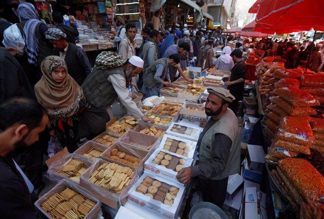 Mercado en Kabul