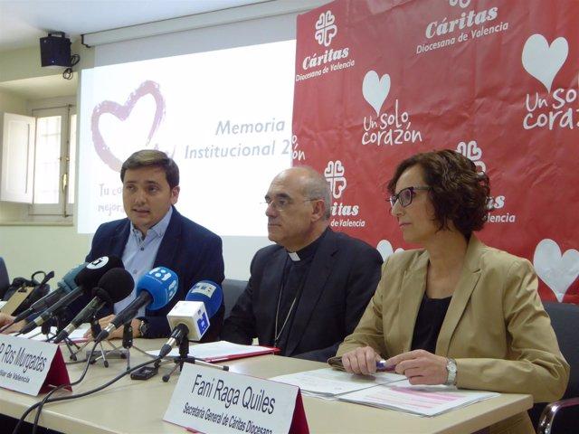 Rueda de prensa de la Memoria Institucional de Cáritas Diocesana