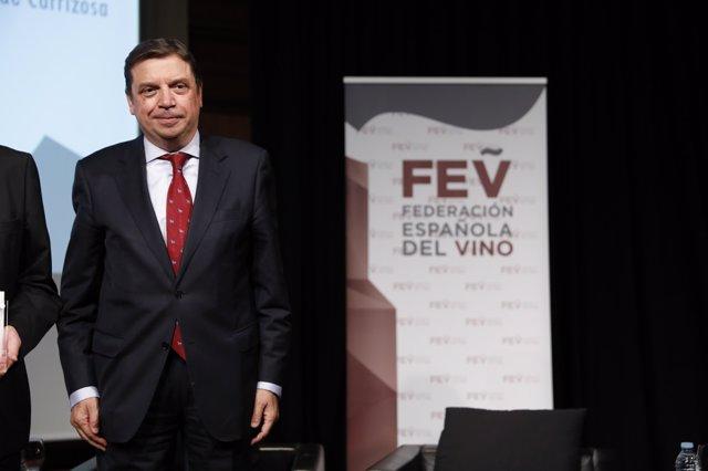 Luis Planas en el XL aniversario de la Federación Española del Vino