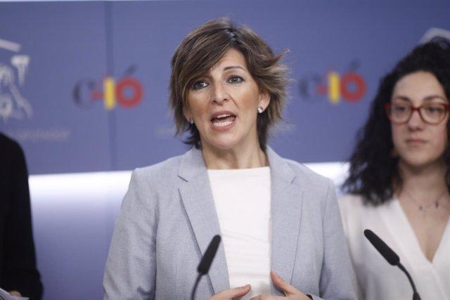 Declaraciones en el Congreso de la diputada de En Marea, Yolanda Díaz