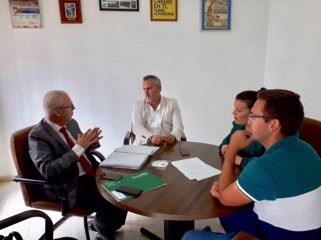 El delegado de la Junta en Cádiz, Juan Luis Belizón