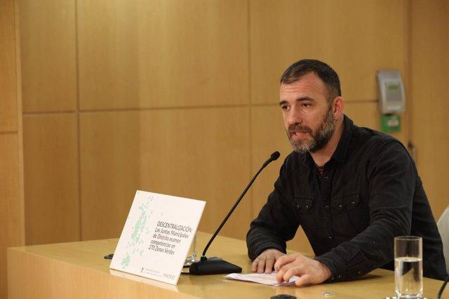 El concejal de Ahora Madrid Nacho Murgui