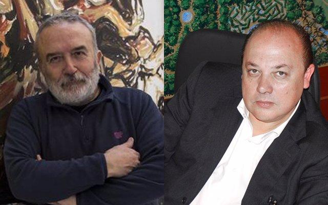 Alfredo taján derecha y pablo sycet izquierda poeta y pintor