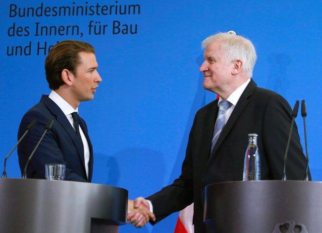 Horst Seehofer y Sebastian Kurz