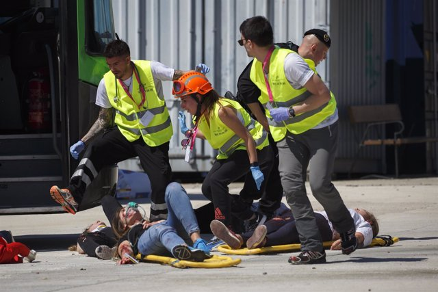Simulacro de un atentado terrorista