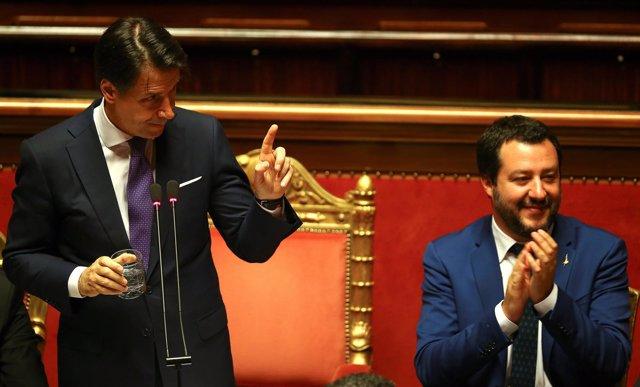 Giuseppe Conte y Matteo Salvini