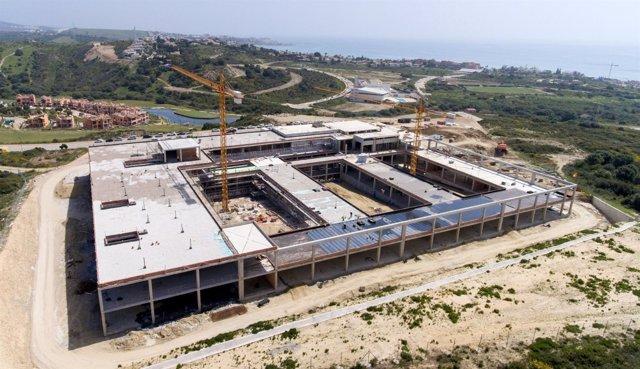 Obras del hospital de Estepona al 40% de ejecución junio de 218