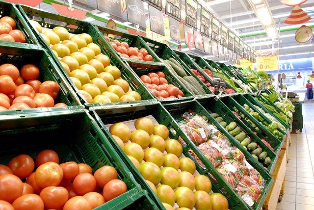 Cajas de plástico reutilizables para fruta y verdura