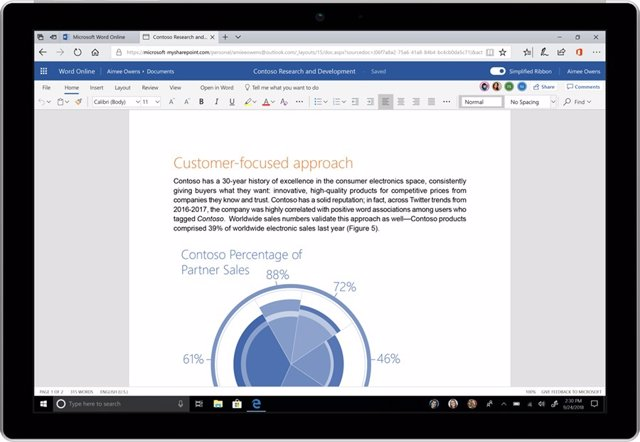 La actualización de Office 365