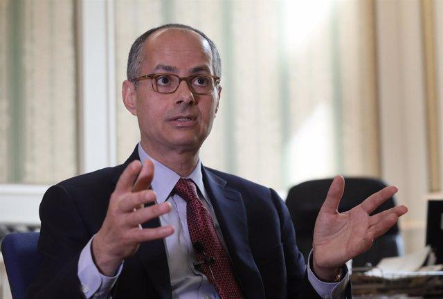Omar Yaghi en una entrevista con Europa Press