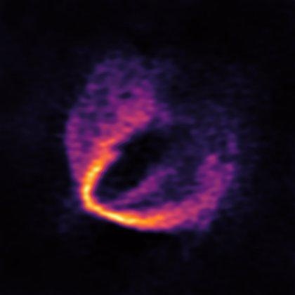 Un trío de planetas, revelados por ALMA en una estrella recién nacida