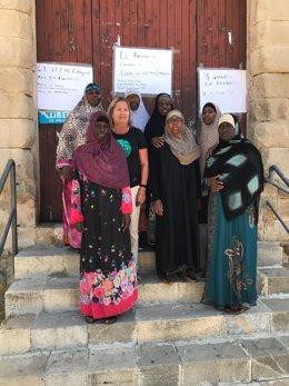 Encierro por los derechos de los migrantes en Blanes (Girona)