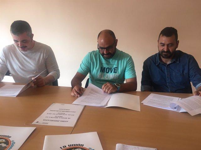 Valladolid.- Óscar Fuentes, Saúl Guillermo y Fernando García