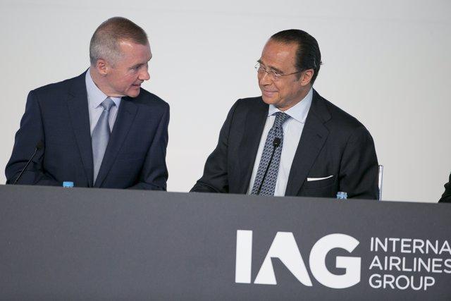 Walsh y Vázquez en la Junta de accionistas de IAG 2015