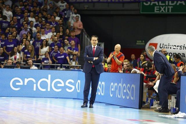 Pedro Martínez (Baskonia) ante el Real Madrid