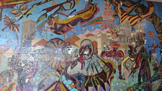 Mural del anillo del IES Universidad Laboral Toledo