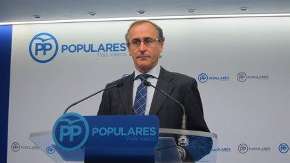 Alonso (PP) pide a Sánchez que aclare si ha pactado el tema de presos con Bildu a cambio de apoyo a la moción de censura