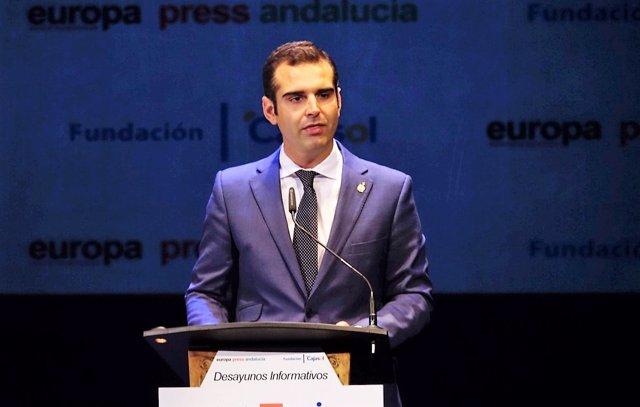El alcalde de Almería, Ramón Fernández-Pacheco, en los Desayunos de Europa Press