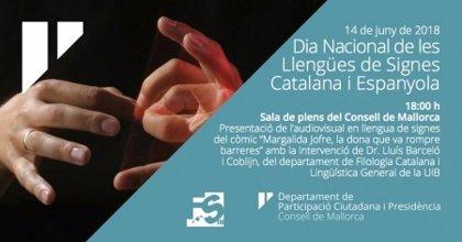 El Consell traduce a la lengua de signos uno de los cómics de la colección 'Mallorca té nom de dona'