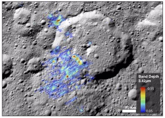 Firma de materia orgánica en Ceres