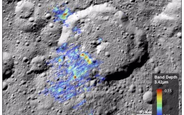 Sorprendentemente alta concentración de materia orgánica en Ceres