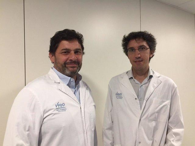 Los investigadores del VHIO y el Vall d'Hebron Pere Barba y Francesc Bosch