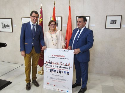 Murcia celebra el próximo jueves su III Maratón de Sangre, que espera batir récord de donantes