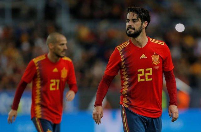 Isco selección española España Costa Rica David Silva