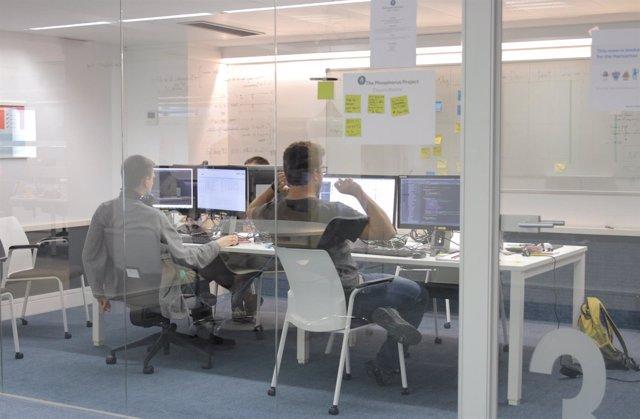 Uno de los grupos de trabajo de este 'Hackathon'