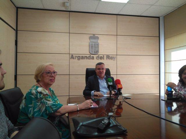 Guillermo Hita explica los presupuestos de Arganda