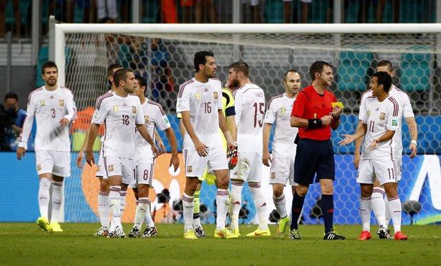 España cae ante Holanda en el Mundial