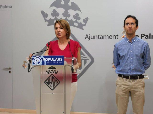 Marga Durán en rueda de prensa