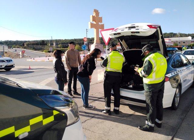 Guardia Civil despliega un amplio dispositivo de verificación de alcoholemia