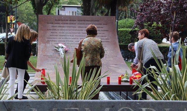 Homenaje a las víctimas del Yak 42 en Zaragoza.