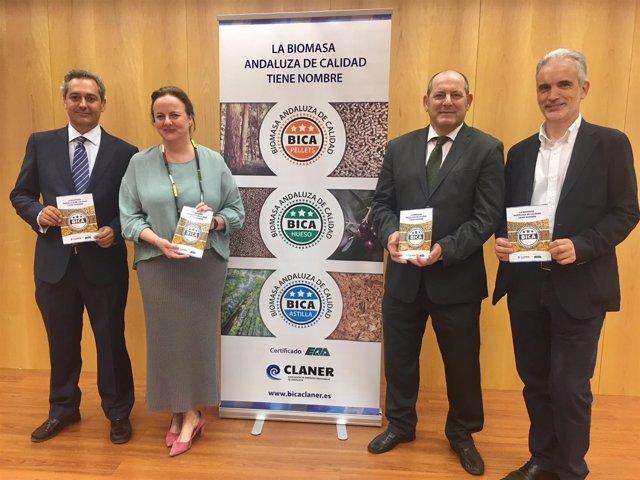 Presentación sello de certificación de calidad para biomasa en Andalucía.