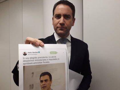 El PP apunta ya a la dimisión de Sánchez por nombrar a un condenado y un imputado