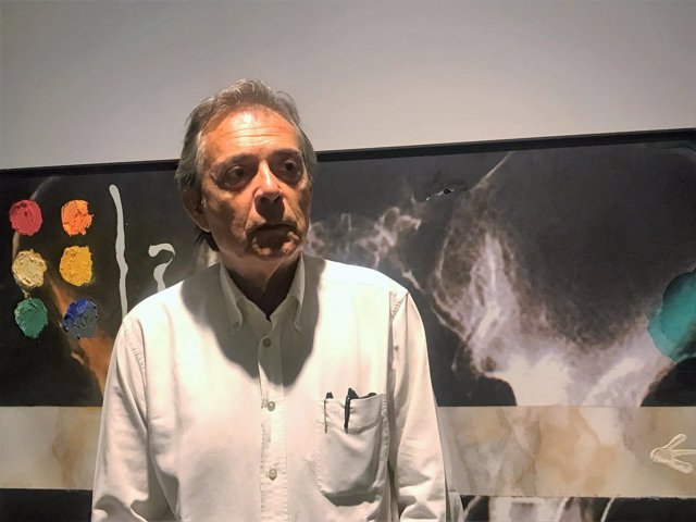El artista Joan Pere Viladecans en la Fundació Vila Casas