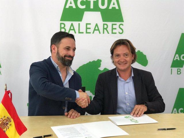 Santiago Abascal y Jorge Campos