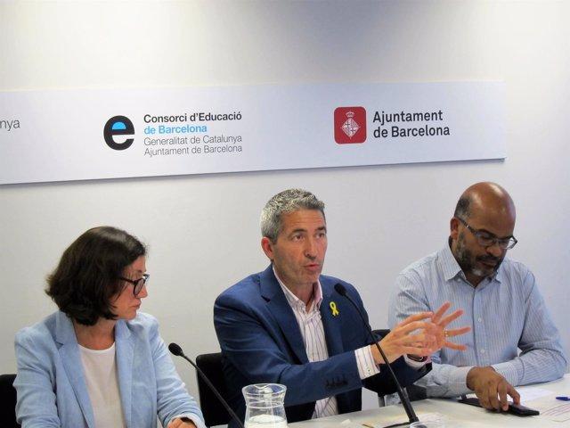 Mercè Massa, Josep Gonzàlez-Cambray y Miquel Àngel Essomba