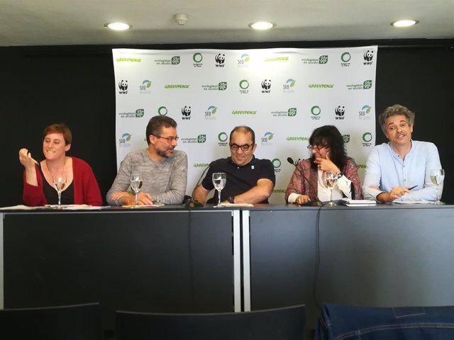 Directores de Amigos de la Tierra, Ecologistas, WWF, SEO/BirdLife, Greenpeace