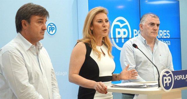 España, Barrionuevo y Marmolejo (PP) en rueda de prensa